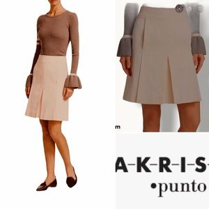 AKRIS PUNTO Wool Pleated Skirt